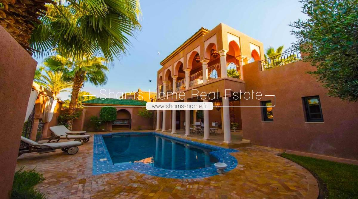 Atypical Villa for Long Term Rental in Palmeraie Marrakech