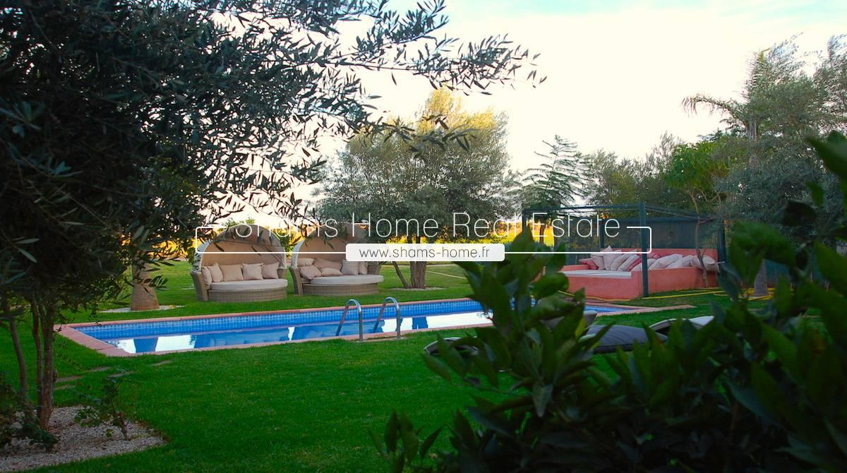 Beautiful Villa for Rent on Golf in Marrakech Road of Ourika