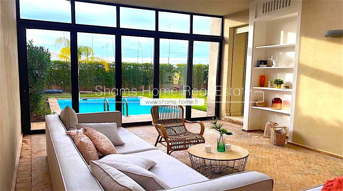 Contemporary Villa for Rent in Marrakech Road to Tahanaout