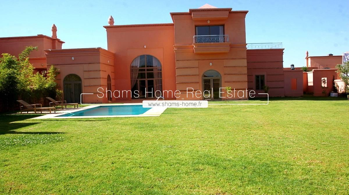 Luxury Villa For Long Term Rental Marrakech Amelkis Golf