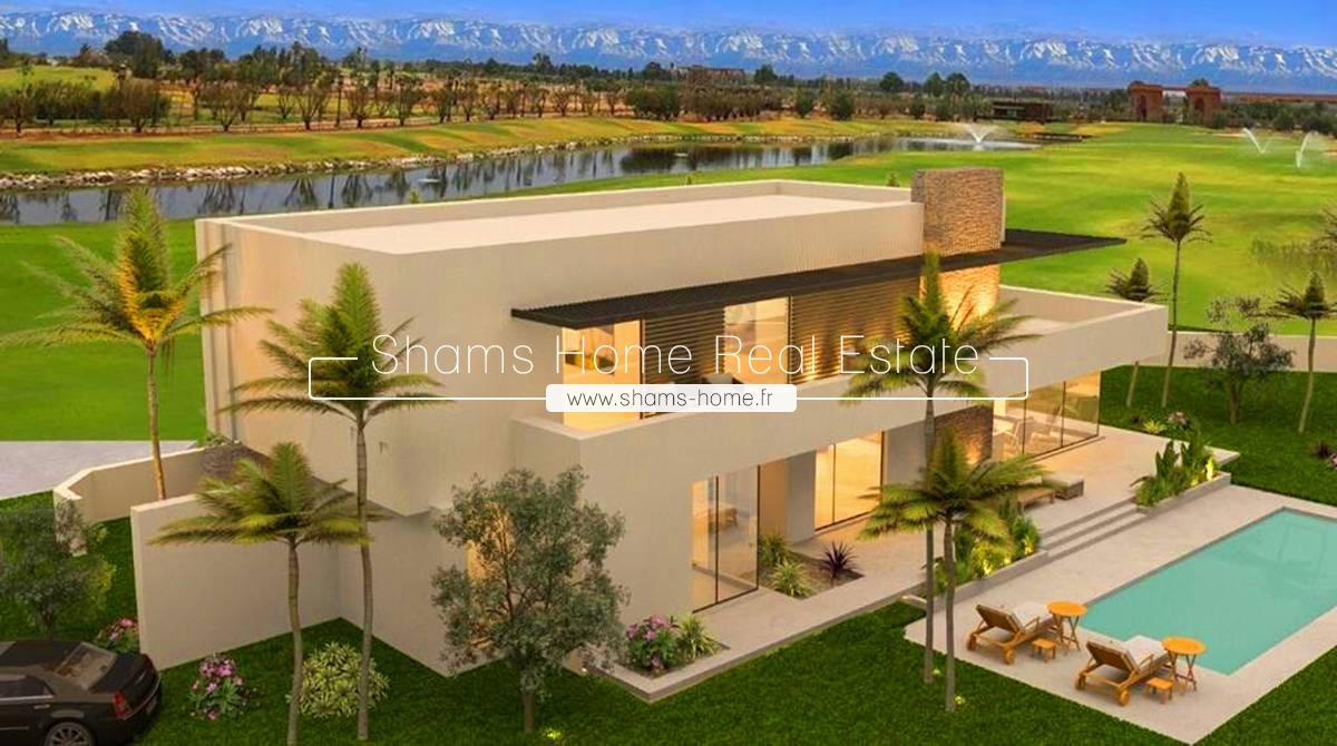 Majestic Villa in First Line Golf for Sale Amelkis Marrakech